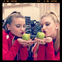 Taylor and Kissa Candy Apples