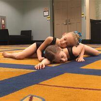 712 Elliana and Lilliana rehearsing backstage