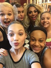 Shangela Laquifa with team - Where in the world is Abby Lee Miller