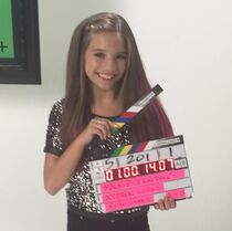 Mackenzie filming music video - I Gotta Dance - May2015
