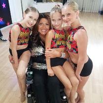 Abby with Elliana, Lilliana and Maesi 10.09.18