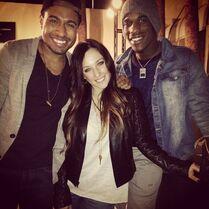 Gianna with officialjessej Jesse Johnson 2014-11-12