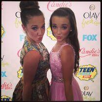 Kendall and Gianna twinning TCA 2014