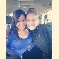 SarahP with Erikia (Sarika) 2014-04-05