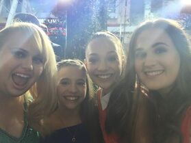 Rebel Wilson and sister Annachi with Mackenzie and Maddie - posted early on 9May2015