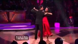 Brandy Norwood & Maksim Chmerkovskiy - Week 7 - Foxtrot