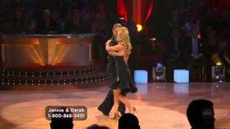 Jennie Garth & Derek Hough - Cha-Cha-Cha - Week 1