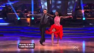 Brandy Norwood & Maksim Chmerkovskiy - Samba - Week 3