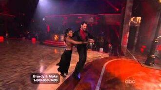 Brandy Norwood & Maksim Chmerkovskiy - Argentine Tango - Week 9