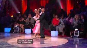 Jennie Garth & Derek Hough Week 2 Quickstep