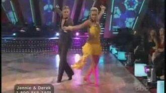 Jennie Garth & Derek Hough Week 5 Samba