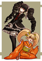 Celeste and Hiyoko by kurokku-tokei