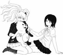 Junko and Mukuro by kurokku-tokei 3