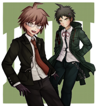 Makoto and Hajime by kurokku-tokei 2