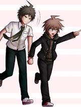 Makoto and Hajime by kurokku-tokei