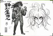 Art Book Scan Danganronpa V3 Character Designs Betas Gonta Gokuhara (3)