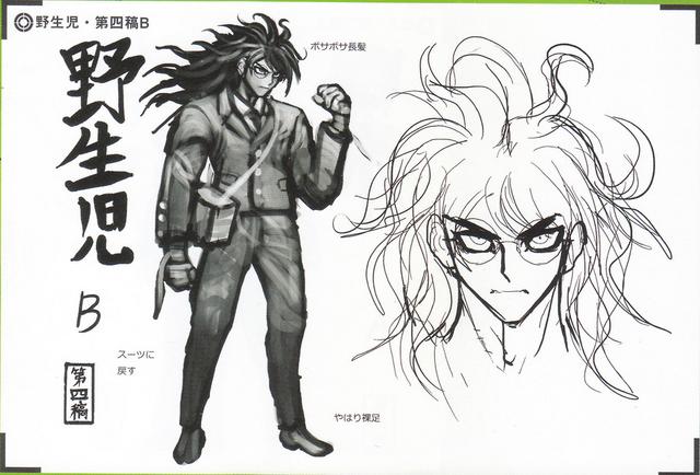 File:Art Book Scan Danganronpa V3 Character Designs Betas Gonta Gokuhara (3).png