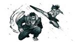 Danganronpa 2 CG - Nekomaru Nidai and Akane Owari sparring (5)
