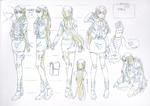 Danganronpa 3 - Character Profiles - Kyoko Kirigiri (Sketches)