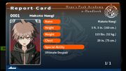 Makoto Naegi Report Card (Talent Reveal)