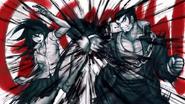 Akane and Nekomaru fighting