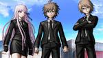 Danganronpa 2 CG - Makoto, Kyoko and Byakuya at the dock port (2)