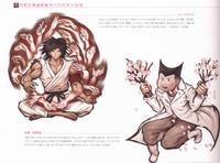 Danganronpa Visual Fanbook Bonus Character Illustrations Kenshiro and Santa