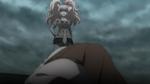 Despair Arc Episode 11 - Junko knocked Mukuro onto her back