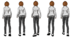 SCRAPPED CONTENT - Danganronpa 1 - Leon Kuwata Walking Animation