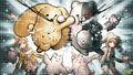 Wooser's Hand-to-Mouth Life x Danganronpa Crossover Illustration by Rui Komatsuzaki