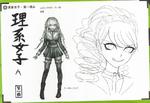 Art Book Scan Danganronpa V3 Character Designs Betas Miu Iruma (1)