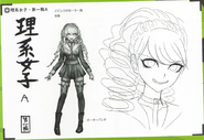 Art Book Scan Danganronpa V3 Character Designs Betas Miu Iruma (1)