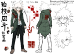 Danganronpa 2 Character Design Profile Nagito Komaeda