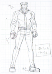 Danganronpa 3 - Character Profiles - SHSL Street Fighter (Sketches)