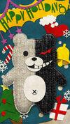 Digital MonoMono Machine Monokuma Holidays iPhone wallpaper