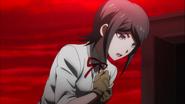 Despair Arc Episode 11 - Mukuro watches the mass suicide