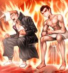 Danganronpa 1 CG - Mondo Owada and Kiyotaka Ishimaru sauna contest