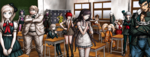 Danganronpa 2 CG - Students in the classroom