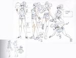 Danganronpa 3 - Character Profiles - Aoi Asahina (Sketches)