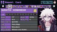 Nagito Komaeda's Report Card Page 1