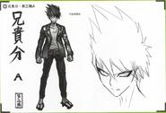 Art Book Scan Danganronpa V3 Character Designs Betas Kaito Momota (5)
