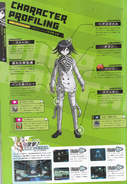 Art Book Scan Danganronpa V3 Kokichi Oma Ouma Character Profiling