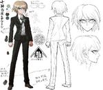 Danganronpa 1 Character Design Profile Byakuya Togami