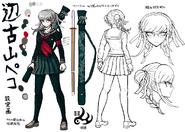 Danganronpa 2 Character Design Profile Peko Pekoyama