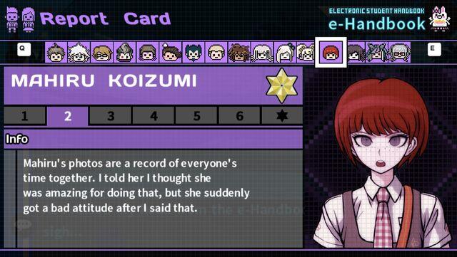 File:Mahiru Koizumi's Report Card Page 2.jpeg