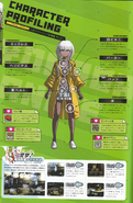 Art Book Scan Danganronpa V3 Angie Yonaga Character Profiling