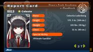 Celestia Ludenberg Report Card Page 1
