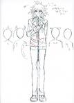 Danganronpa 3 - Character Profiles - Nagito Komaeda (Despair design sketches)