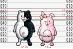 Danganronpa 2 Height Chart Monomi and Monokuma