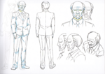 Danganronpa 3 Booklet - Design Sketches - Steering Committee Member (3)